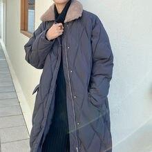 Женская хлопковая куртка средней длины lingge свободная Толстая
