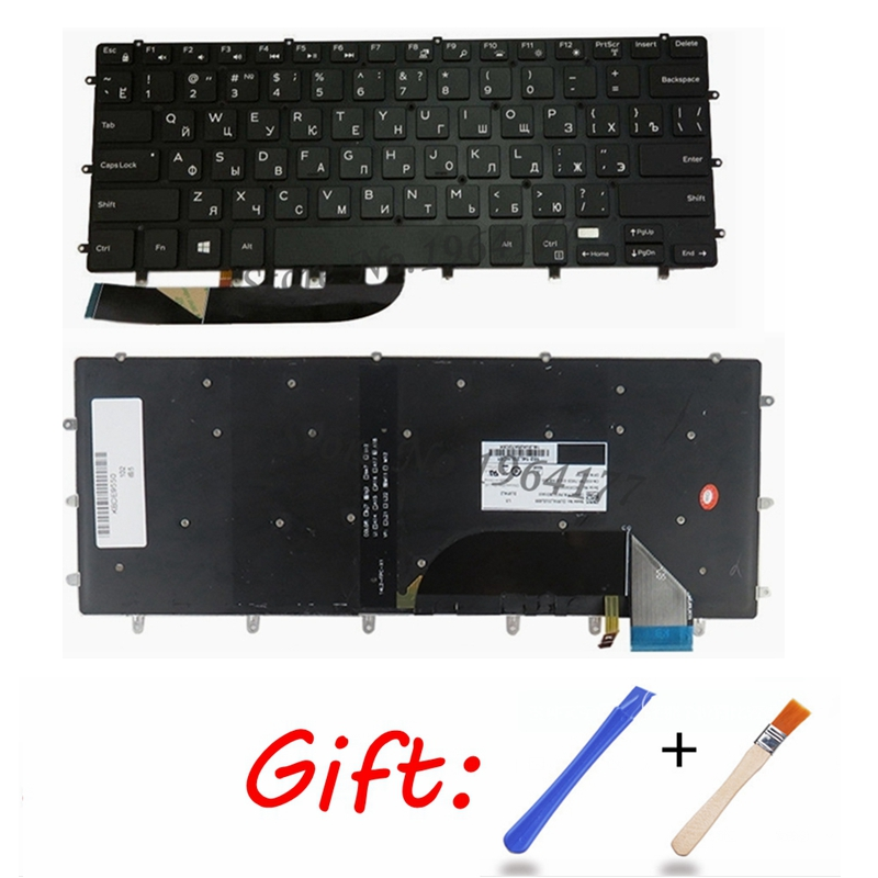 New Backlit <font><b>Keyboard</b></font> For <font><b>DELL</b></font> XPS 15 9550 9560 <font><b>5510</b></font> M5510 RU Russian DLM14L23SUJ442 0HPHGJ BLACK without frame backlight image