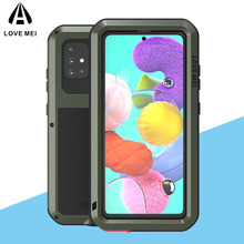 For Samsung Galaxy A51 Case LOVE MEI Shock Dirt Proof Water Resistant Metal Armor Cover Coque for Samsung Galaxy A51 Phone Case armor phone case for samsung galaxy a51 cover tpu