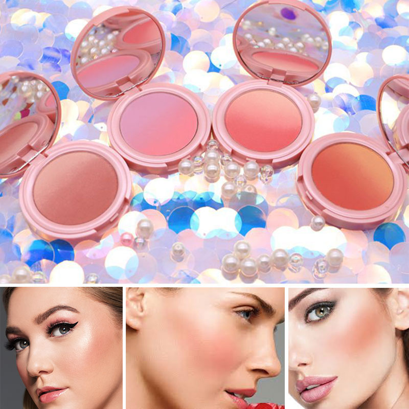 NOVO New Make Up Blush Palette Natural  Makeup Blusher Powder Cheek Face 3D Contour Brighten Face 4 Colors Long-lasting Cosmetic