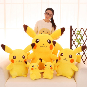 10-65cm Smile Pikachu Animal Dolls Plush Toys, Kawaii Cartoon Pikachu Soft Big Dolls Toys For Kids Girls Birthday Christmas Gift