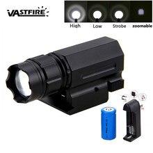 3000лм XPG-Q5 светодиодный масштабируемый охотничий светильник 3 режима, оружейный ручной пистолет, светильник, пистолет, страйкбол, 20 мм, QD винт...