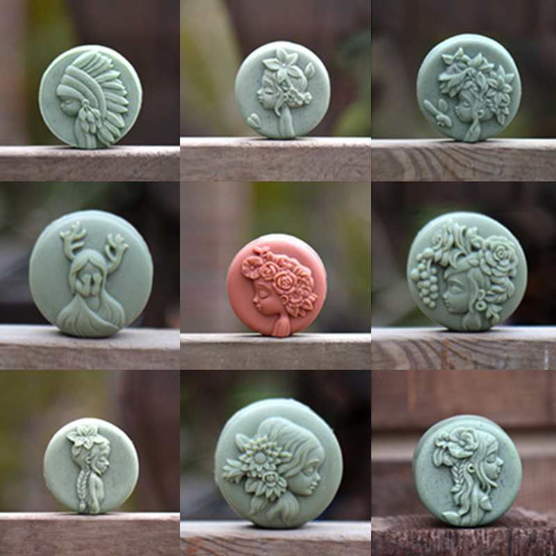 Silicone Soap Mold 3D Forest Girl Chocolate Gum Paste Mould Handmade Soap Making Molds Resin Decorating Tool