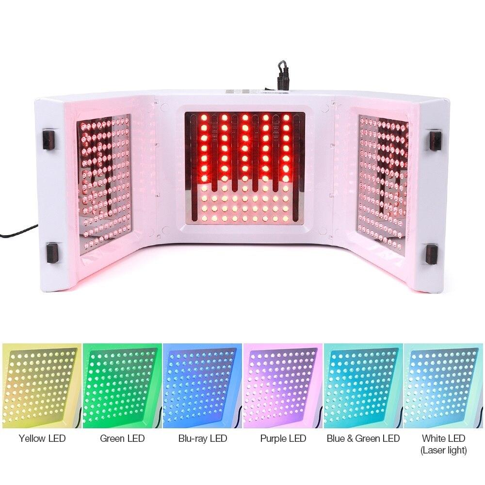 Machine professionnelle de masque Facial de lumière LED de Photon PDT 7 couleurs traitement d'acné traitement de visage blanchissant la thérapie légère de rajeunissement de peau - 4