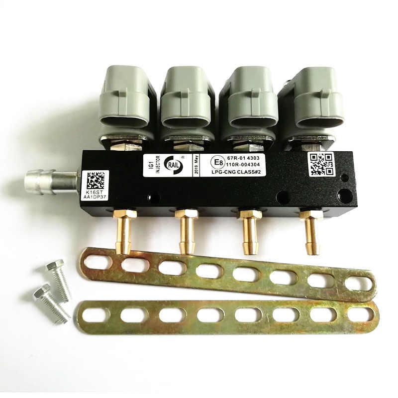 2 أوم 4 اسطوانة CNG LPG حاقن السكك الحديدية عالية السرعة حاقن السكك الحديدية المشتركة حاقن الغاز والاكسسوارات