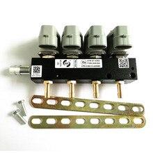 2 ohm 4 zylinder CNG LPG Injektor Schiene hohe geschwindigkeit Gemeinsamen Injektor Schiene gas injektor und zubehör