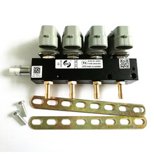 Inyector de gas de alta velocidad, Riel de inyector común, 2 Ohmios, 4 cilindros, CNG LPG, accesorios