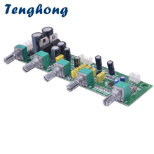 Tenghong NE5532 סאב F540a 2.1 טון Preamp לוח טרבל בס התאמה עצמאית כפולה AC12 15V AMP