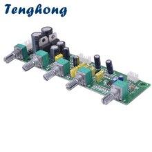 Tenghong ne5532 서브 우퍼 프리 앰프 보드 hifi 2.1 프리 앰프 톤 보드 고음베이스 독립 조정 듀얼 AC12 15V 앰프