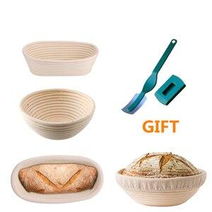 Pão quente fermentação rattan cesta proofing país pão baguette massa cestas armazenamento recipiente cesta de vime suprimentos