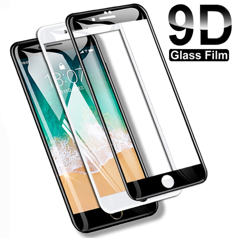9D Full Cover Tempered Glass For iPhone 8 7 6 6S Plus 5 5S SE 2020 Screen Protector On iPhone 11 Pro XS Max X XR Protective Film
