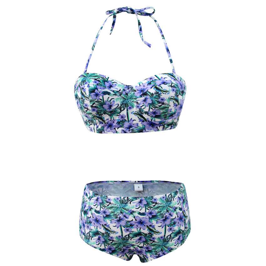 H9fab2c8c09d84b6e9e9e9d9816f9caacM Bikini Push up 2019 Sexy Women Swimsuit Striped Patchwork Plus Size Swimwear Female Bandage Biquini Bathing suit Women