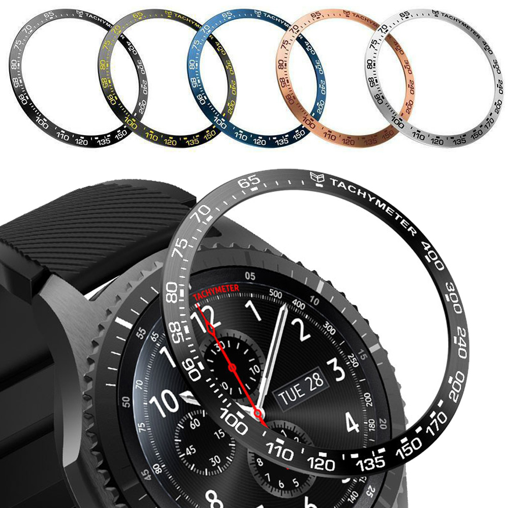 For Samsung Gear S3 Classic Frontier Galaxy Watch 46mm Bezel Ring Case Cover Frame Anti Scratch Metal Protection Bezel Ringke #B