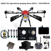 SA625 25L Agriculture hexacopter waterproof spraying drone kit 25KG 6 axis frame JIYI K++ obstacle avoidance E7000 VD32