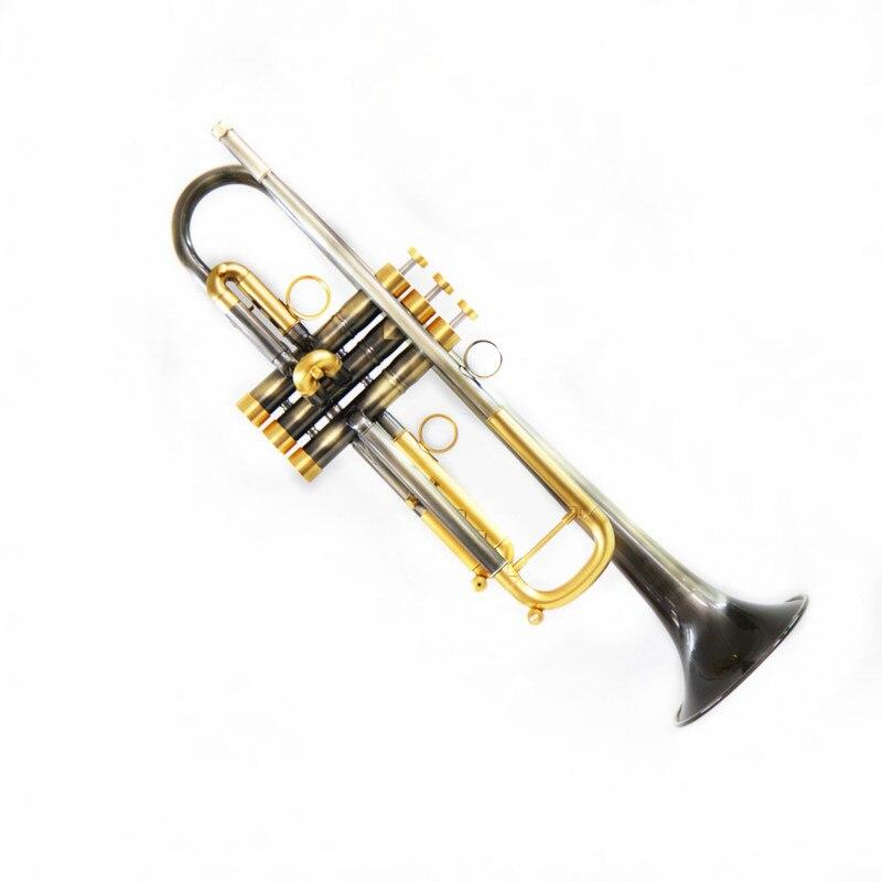 JM Bb trompette rétro cuivre B plat trompette avec embout et accessoires de boîtier de bonne qualité