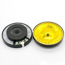 40mm 32 Ohm titanyum diyafram kulaklık hoparlör N40 19.5 büyük manyetik kulaklık sürücü birimi DIY 108dB/W