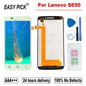 Image 2 - 레노버 S650 LCD 디스플레이 터치 스크린 디지타이저 어셈블리 교체 레노버 IdeaPhone S650 용 프레임