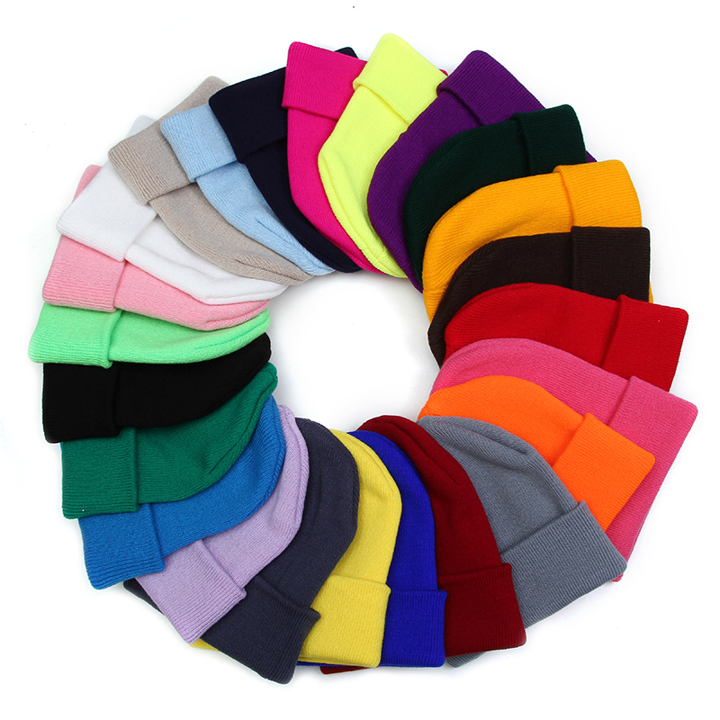 Winter Hats Bonnet Beanie Caps Knitted Female Autumn Girls Woman Ladies Warmer Casual-Cap
