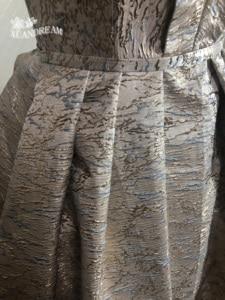 Image 5 - 2019 Specail occasion print robe de soirée courte form long prom dinner gowns pleat puffy skirt  women prom dress XD 48