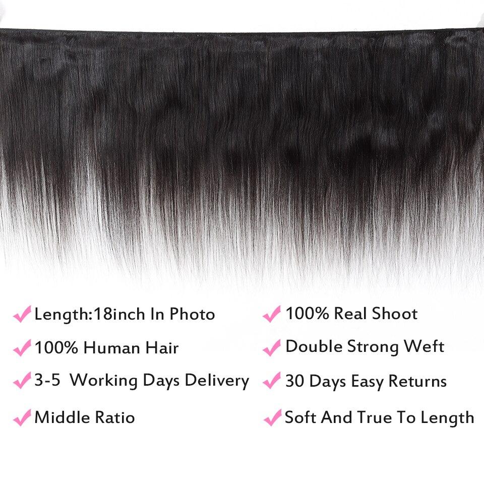 FABC  Straight Hair  Bundles 8-28 inches 100%  s Non-remy Double Weft 1/3/4Bundles Nature Color 2