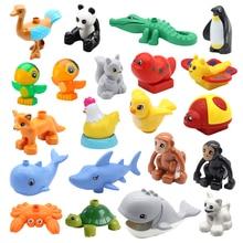 Большой размер животные зоопарк аксессуары киты дельфин панда обезьяна птица собака кошка свинья черепаха здание блоки дупло игрушки для детей