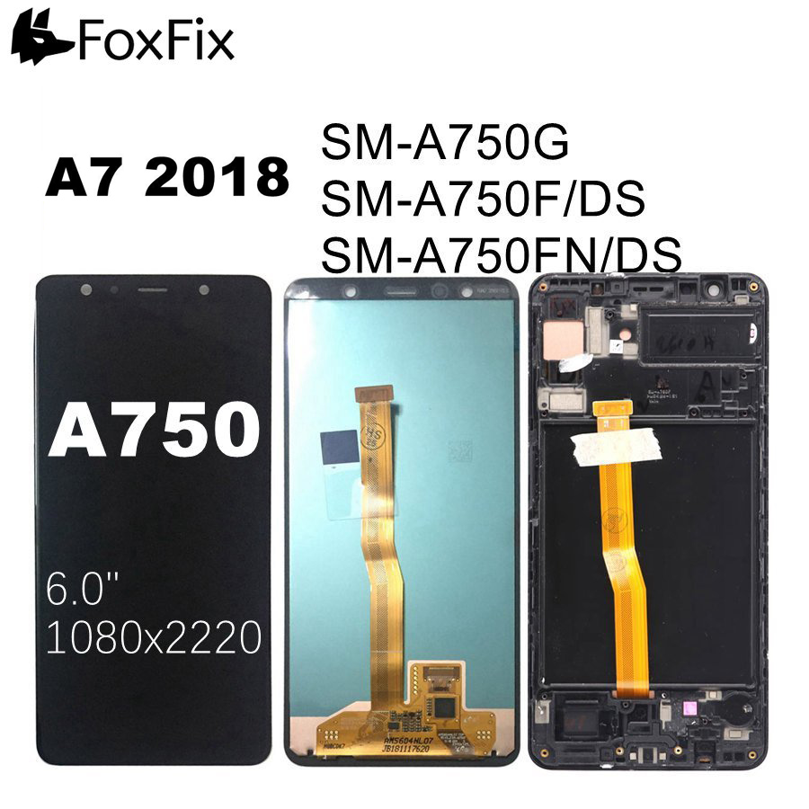 AMOLED <font><b>Display</b></font> For <font><b>SAMSUNG</b></font> <font><b>GALAXY</b></font> <font><b>A7</b></font> <font><b>2018</b></font> LCD <font><b>Display</b></font> A750 A750F A750G Touch Screen For <font><b>SAMSUNG</b></font> <font><b>A7</b></font> <font><b>2018</b></font> <font><b>Display</b></font> With Frame image