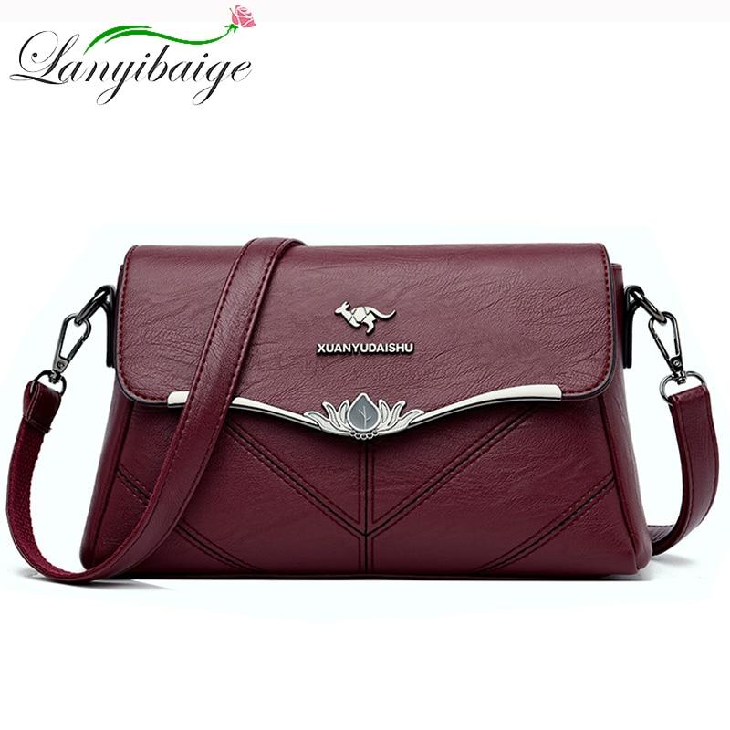 2020 Summer Fashion Women Bag Leather Handbags Shoulder Bag Small Flap Crossbody Bags For Women Messenger Bags Sac A Main