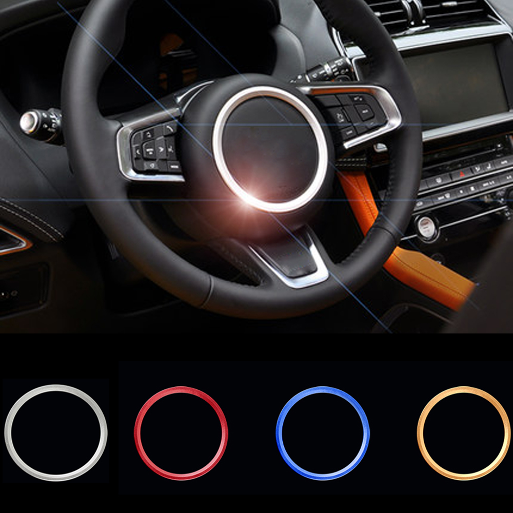 For Jaguar F-PACE F-TYPE XF XE ABS Steering Sticker Car Steering Wheel Ring Sticker Car Interior Sticker Auto Tuning Accessories