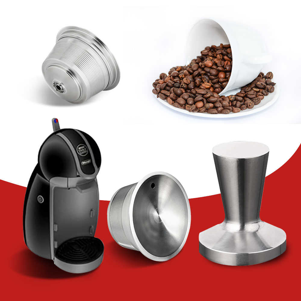 Dolce Gusto Wiederverwendbare Kapsel Recargable Nescafe Capsula Metall Dolce Gusto Filter Kappen Dolce Gusto Reutilizables 3 Schoten 1 Manipulations