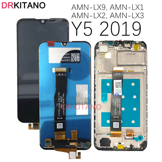 DRKITANO 디스플레이 화웨이 Y5 2019 LCD 디스플레이 명예 8S 터치 스크린 화웨이 Y5 2019 디스플레이 프레임 AMN LX9 LX1 LX2 LX3