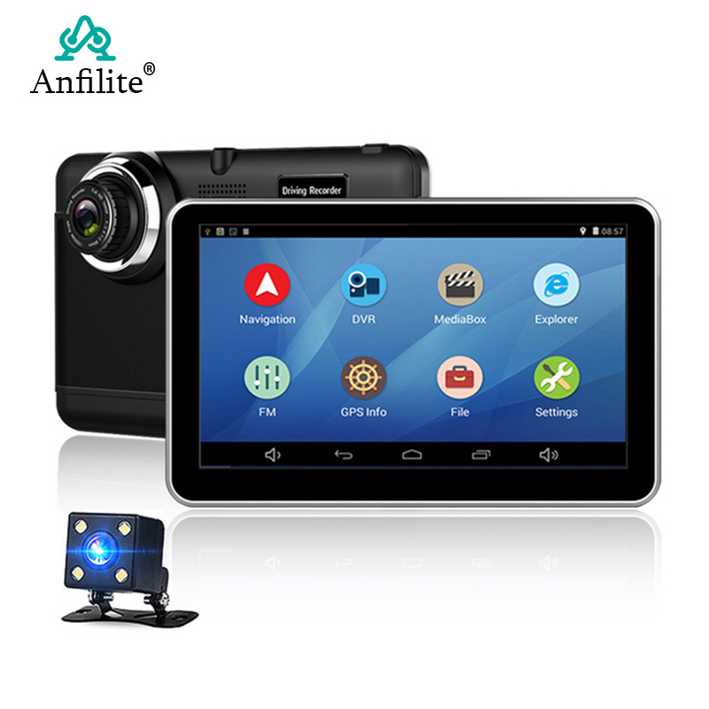 GPS Navigation Dvr Recorder Camera Bluetooth Android Wifi 7inch 1080P Vehicle Car Quad-Core title=