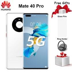 Оригинальный Huawei Mate 40 Pro 5G мобильный телефон 6,76 дюйм90 Гц OLED 8 ГБ + 128 ГБ Kirin 9000 Octa Core EMUI 11 быстрой зарядки 66W смартфон