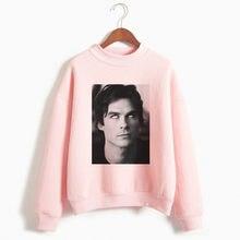 Pamiętniki wampirów bluza z kapturem moda damska bluzka Harajuku bluzy damskie różowe bluzy jesień słodkie bluzy ubrania