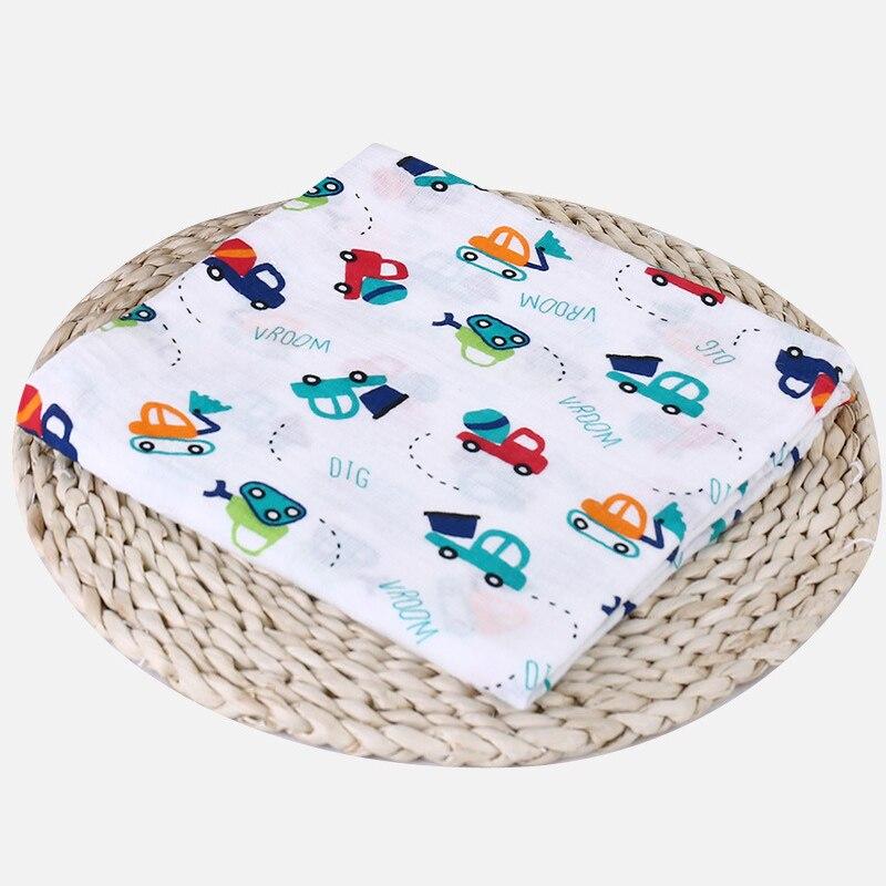 1 шт., муслин, хлопок, детские пеленки, мягкие одеяла для новорожденных, для ванной, марля, Детская накидка, спальный мешок, чехол для коляски, игровой коврик - Цвет: Dig