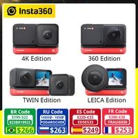 Insta360-Cámara de acción deportiva ONE R Twin Edition, 5,7 K, 360, 4K, gran angular, Vídeo impermeable