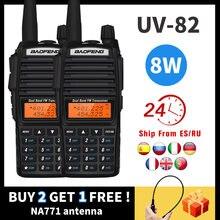 2 шт baofeng uv 82 8 Вт высокомощное двухстороннее радио uv82