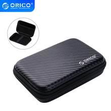 ORICO 2.5 obudowa do twardego dysku przenośna torba ochronna HDD do zewnętrznego dysku twardego 2.5 cala/słuchawki/U obudowa dysku twardego dysku czarny