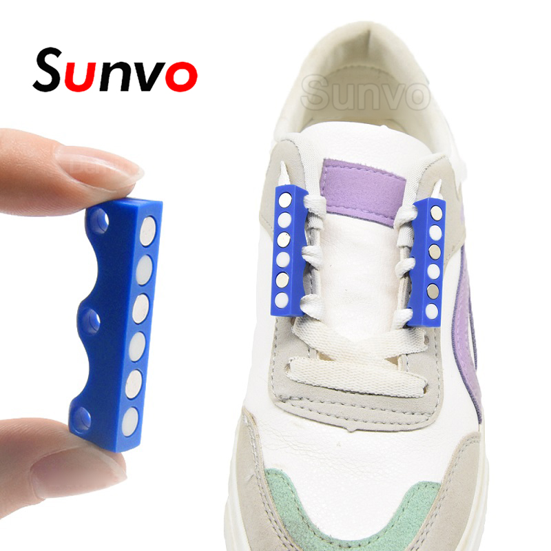 Sunvo Magnetic Shoelaces Buckle No Tie Shoe Laces For Lazy Child Older Lace Quick Lacet Closure Shoelace Shoestring
