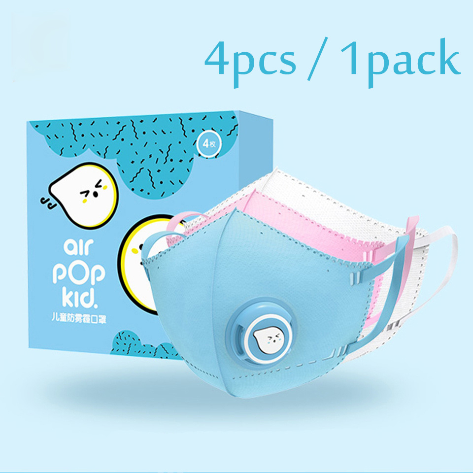 In Stock Xiaomi Airpop Children Mask Kid Masks PM2.5 Anti-fog Mask Protection Soft Breathable Air Wear Face Mask Boys Girls 4pcs