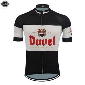 Image 1 - 新しい DUVEL サイクリングジャージ男性半袖通気性プロチームバイクウエア漫画おかしいサイクリング服トップ MTB 夏スポーツウェア