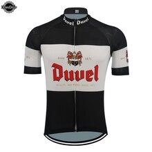 Duvel roupa de ciclismo masculina, camiseta manga curta respirável para time profissional ciclistas desenhos animados roupas de ciclismo top mtb verão roupas esportivas