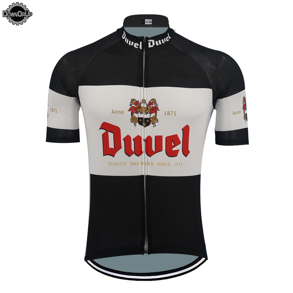 NEW DUVEL Cycling Jersey Men Short Sleeve Breathable Pro Team Bike Wear Cartoon Funny Cycling Clothing Top MTB Summer Sportswear
