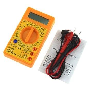 DT830B Mini Multimeter LCD Digital Multimetro For Volt Amp Ohm Tester Meter Voltmeter Ammeter Overload Protection uni t ut803 ut 803 bench top digital multimeter volt amp ohm capacitance temp tester