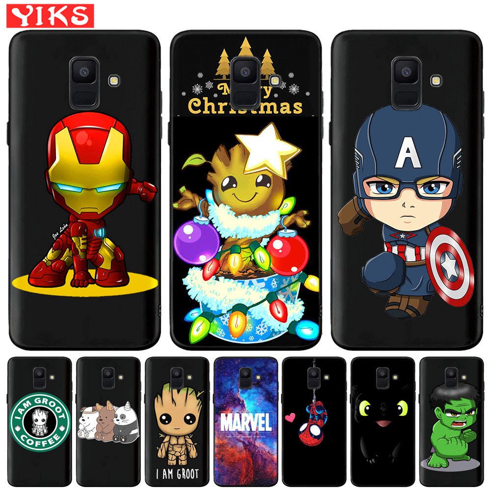 Spiderman Marvel The Avengers Groot Captain America Case For <font><b>Samsung</b></font> Galaxy A20 <font><b>A30</b></font> A50 A3 A5 A7 2016 2017 A6 A8 Plus A7 A9 2018 image