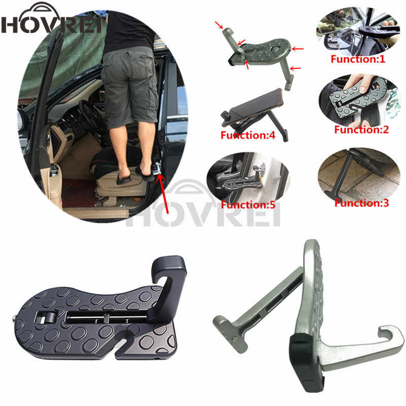 universal Car SUV Multifunction Foldable Door Hook Pedals Vehicle Climbing holder support Roof Pedal Auxiliary Hook pedal