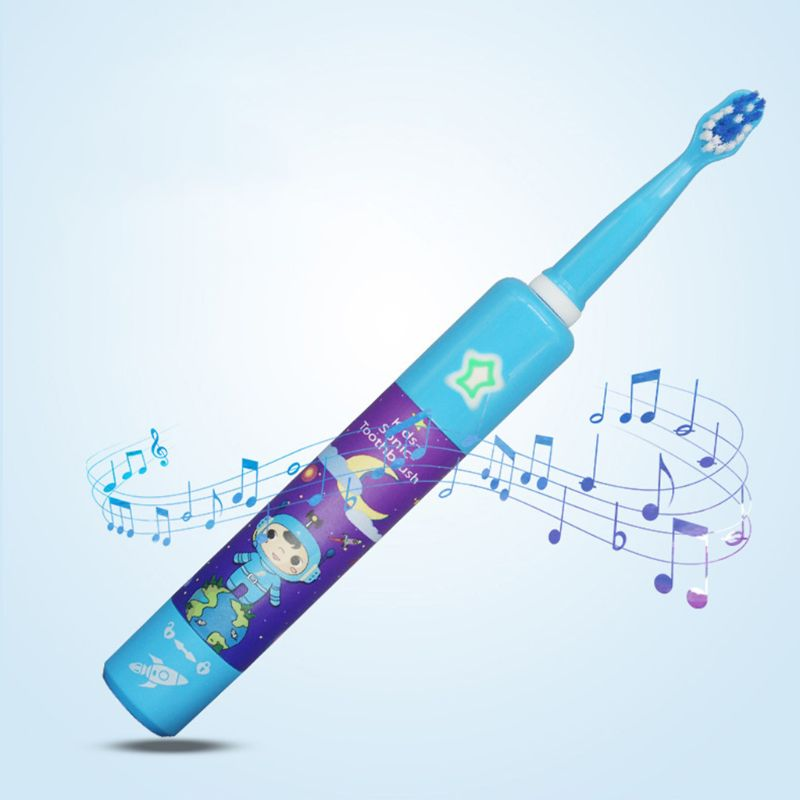 Baby Sonic Electric Toothbrush USB Rechargeable Automatic Toddler Kid Safety Cute Soft Comfortable Toothbrush image