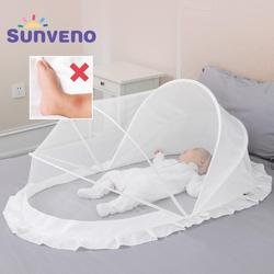 Sunveno przenośna siatka moskitiera pokrywa z siatki składane łukowe moskitiery siatki przeciw komarom dla dziecka Camping  Patio|Siatki do łóżeczka|Matka i dzieci -