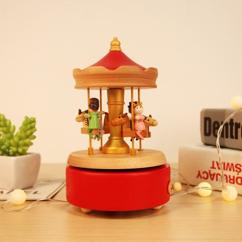 Birthday Gift Music Box Wooden Best Friend Small Girl Boyfriend Musical Box For Girlfriend Boite A Musique Gift Box DJ60YH