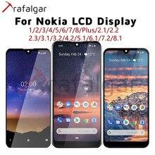 Para Nokia 1 2 3 5 6 7 Plus 8 1.3 2.1 2.2 2.3 3.1 3.2 4.2 5.1 5.3 6.1 6.2 7.1 7.2 8.1 8.3 Display LCD Touch Screen Para Nokia LCD