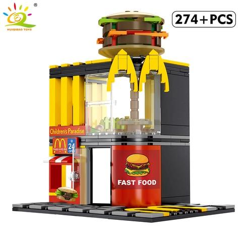 huiqibao 274 pcs fast food hamburger store